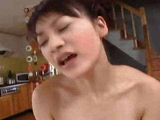 Japanese Girl In The Living Room