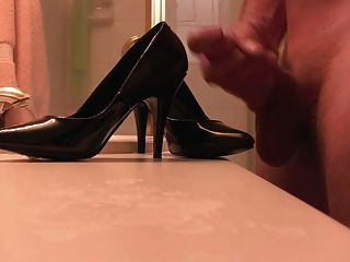 Black Pumps Cum Covered