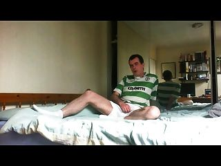 Wanking In Footie Top And Spunking Over My Shorts