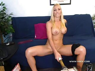Busty Blonde Pornstar Britney Foster Live Sex Machine