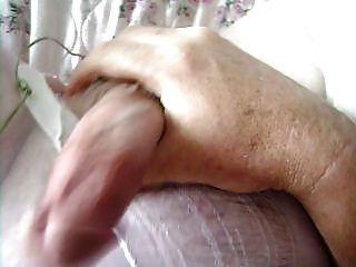 Hooters Girl Pantyhose+her Pink Vibrator=nice Cum Shot