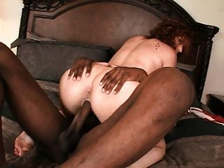 Horny Redhead Settles For Big Black Cock