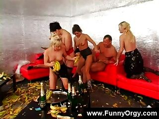Group Goes Bananas At An Orgy