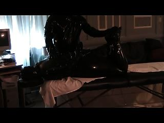 Sub In Latex Bondage