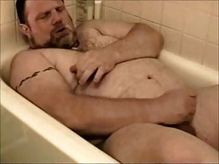 Bear Beats Off In The Tub