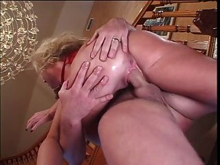 Blonde Chick Banged By A Big Cock On The Stairs