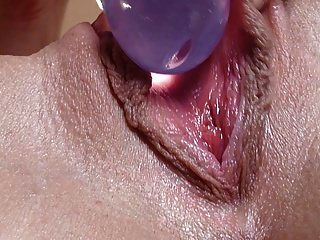 Close-up Pussy With Dildo