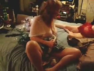 Mature Lesbians Masturbating On Bed