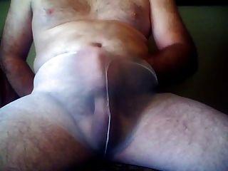 Jerking In White Pantyhose