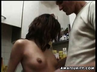 Amateur Girlfriend Homemade Hardcore Action With Cumshot