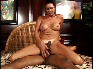 Exotic Milf Sucks Massive Black Cock As Well As His Cigarette