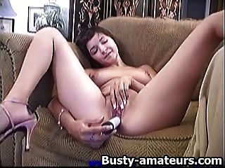 Vanessa Toying Her Pussy On The Couch