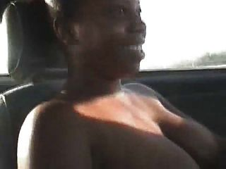 Black Woman Driving Around Topless