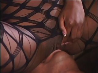 Ebony Chick In Fishnet Bodysuit Gets Fucked