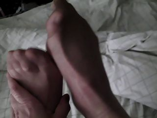 My Pantyhosed Cock And Feet