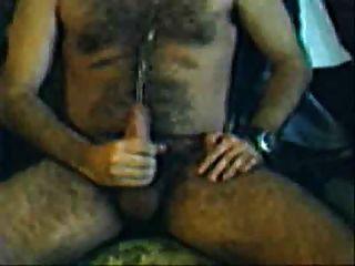 Very Horny Hairy Guy Shoot Cum