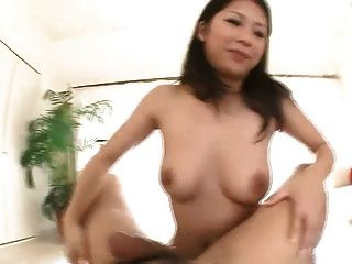 Horny Satomi Wraps Her Big Tits Around A Thick Pole