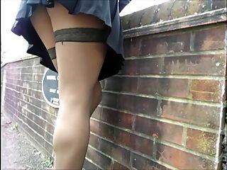 Wank-off On My Legs