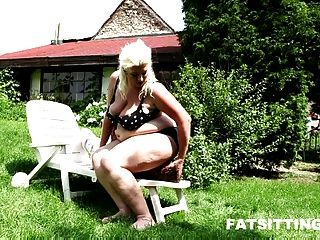 Bbw Dominatrix Monika In Outdoor Face Sitting Session