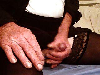 Wanking In Stockings And Pink Panties