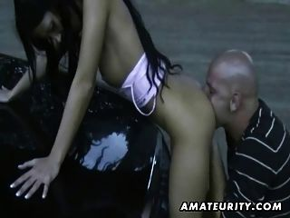 Amateur Teen Girlfriend Outdoor Action With Anal And Cumshot
