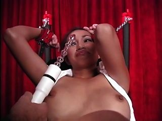 Gorgeous Blindfolded Asian Slave Victim Gets Her Clit Teased With A Vibrator