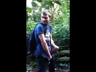 Walk And Wank In Wood