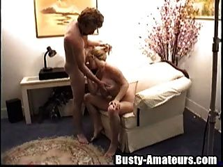 Busty Heather Blows Cock And Fucked