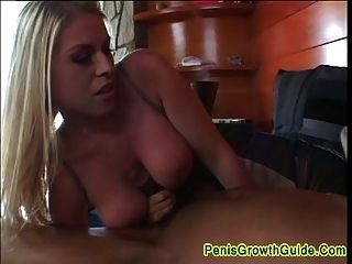 Big Tits Blonde Fucked On Her Ass By A Black Guy