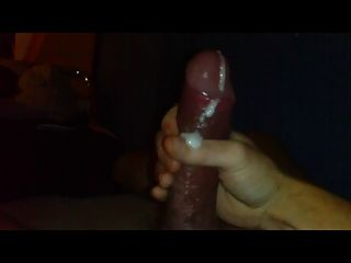 Nice Sticky Cumshot From A  Huge Fat Dick