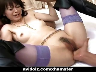 Japanese Hot Babe In Threesome Uncensored