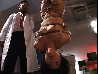 Flogging A Japanese Nurse-upside Down