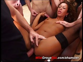 Anal Bukkake Gangbang With Crazy German Chicks