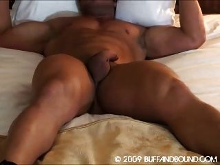 Bodybuilder Bound And Stripped Naked In Bed