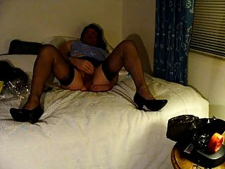 Masturbating In Stockings With My New Camera