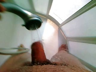 Water Beam Wanking - Cumming With The Shower