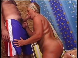Sensual Chubby Granny Fucks With Young
