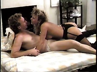 Blonde Skank In Black Lingerie Sucks And Fucks In Many Different Positions