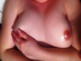 Wife Handjob With Cum On Tits