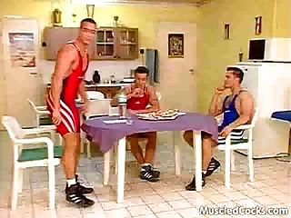 Cock-hungry Wrestlers Make A Hot Gay Orgy