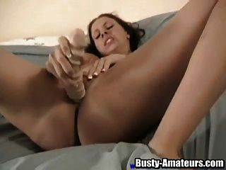 Gianna Is A Horny Brunette With Great Love For Her Sex Toy