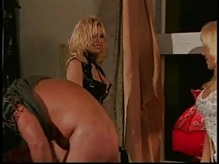 Two Mature Whores Spank Stud