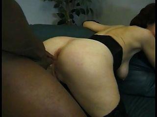 Mature White Redhead With Shaved Pussy Loves Getting Fucked By Black Cock