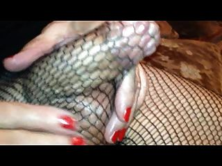 Samantha Tv  In Fishnets And Spunks
