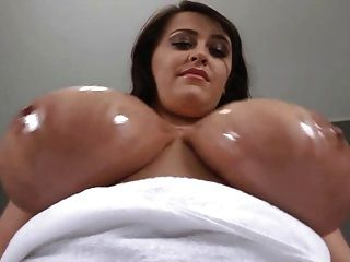 Webcams 2014 - The Legend Oils Her Amazing Tits Up