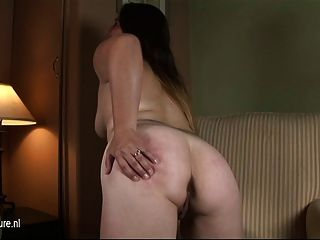 Naughty Mother Next Door Playing With Herself