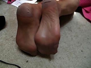 Short Stocking Foot Video, Fallow Beige Rht Stockings