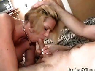 Busty Blonde Amateur Milf Enjoys A Deep Fucking