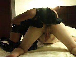 Slut In Pvc For Perfect Rimjob