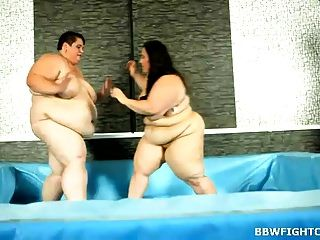 Hungry For Cock Bbws In Shocking Wrestling Video